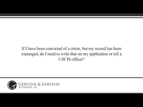 If I have been convicted of a crime, but my record has been expunged, do I...