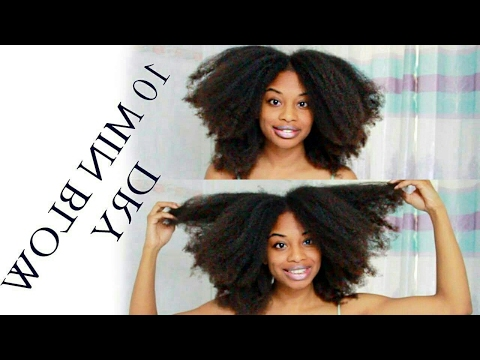 HOW TO BLOWDRY THICK NATURAL HAIR IN 10 MINS