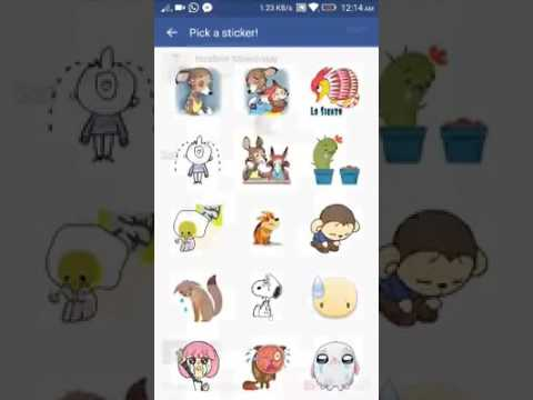 Facebook stickers for android