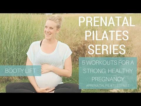 Prenatal Pilates Series:  Prenatal Booty Lift