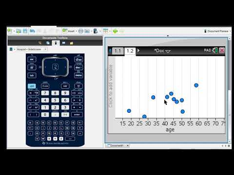 Scatter Plot and Correlation Coefficient in TI-Nspire