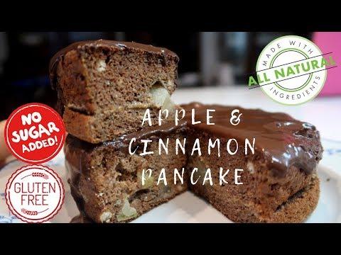 APPLE CINNAMON PANCAKE VIDEO TUTORIAL | NO added sugar,  Gluten free #HEALTHY