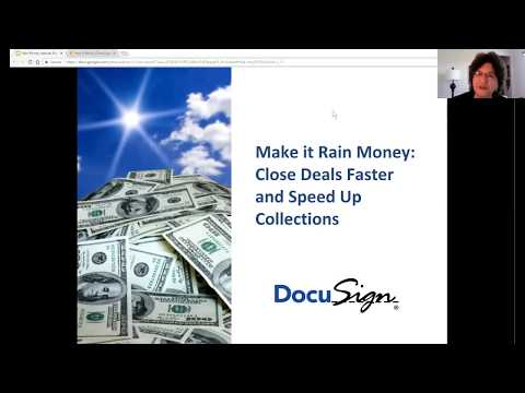 Make it Rain Money:  Close Deals Faster and Speed Up Collections