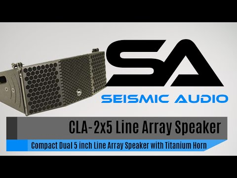 Seismic Audio CLA-2x5 Compact Line Array Speaker (Official)