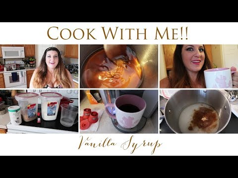 Homemade Vanilla Syrup | Cook With Me | Just like Starbucks!!