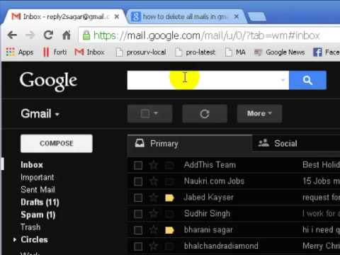 How to find unread mails in gmail