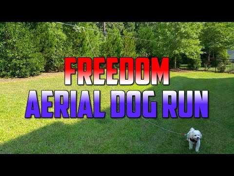 Freedom Aerial Dog Run Cable - Review, Setup and Installation