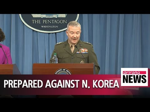 Pentagon says U.S. is maintaining readiness against N. Korea as situation develops