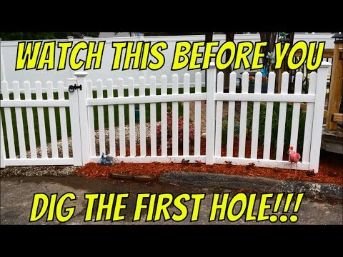 How to install a vinyl fence up a hill and around a curve
