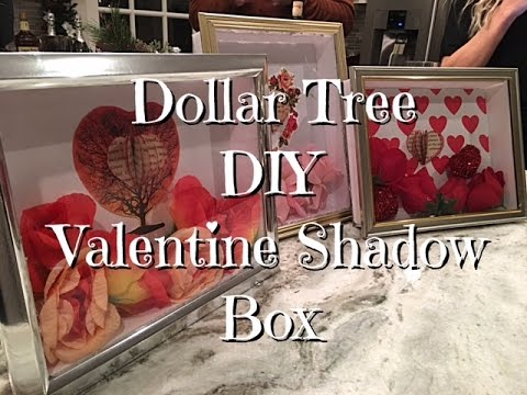 DIY Dollar Tree Valentines Shadow Box How-to