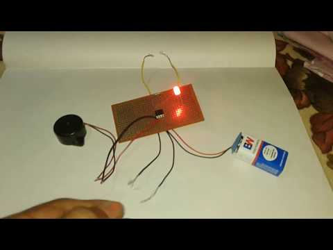 touch alarm project, touch alarm using ic 555, touch alarm system, touch alarm circuit, touch alarm
