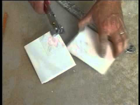 Using small hand tile cutters