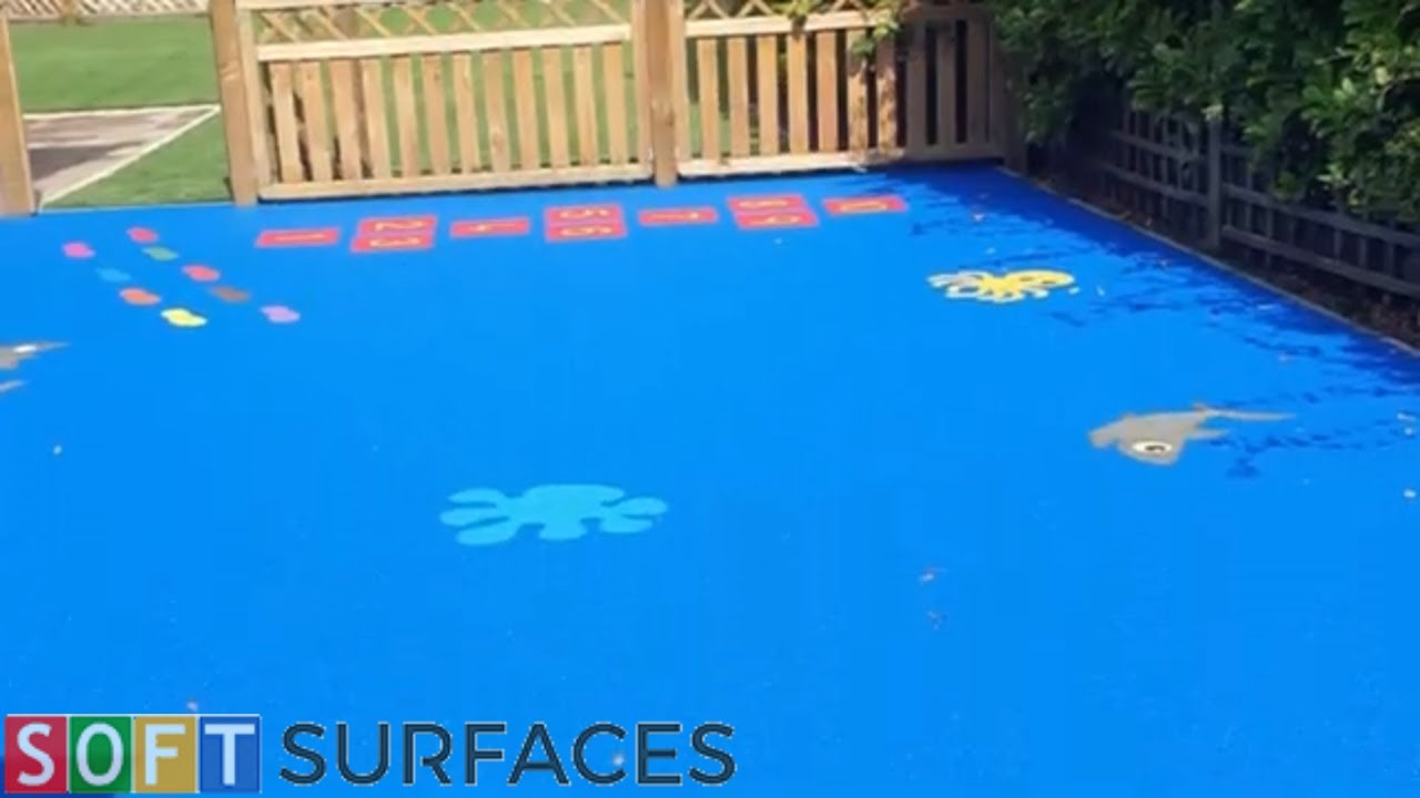 Wetpour Playground with Graphics in Salford, Greater Manchester | Wet Pour Installation