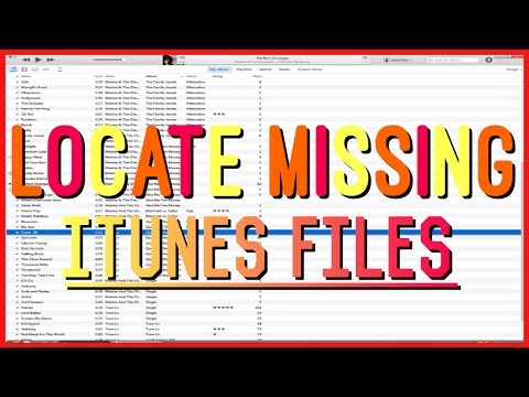 How to Locate Missing iTunes Files