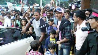 Hrithik Roshan with his kids at Aishwarya Rai