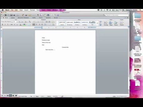 Set Up A Word Doc in MLA Format (Mac)