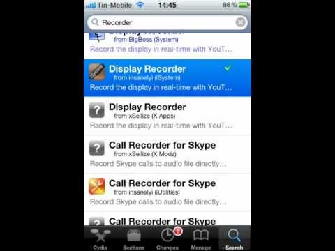 Screen recorder for iPhone 3 / 3G / 4 / 4S / 5