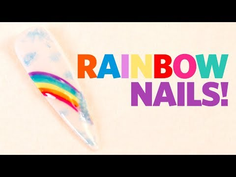 Rainbow Gel Nail Tutorial