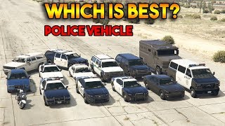 GTA 5 ONLINE : WHICH IS BEST POLICE VEHICLE? (ALL POLICE VEHICLES)
