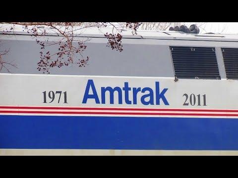Amtrak #184 with Phase IV Heritage Paint Scheme - Burlington, NC