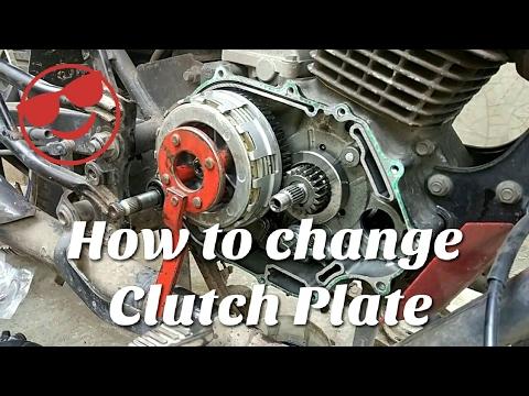 Clutch Plate Change    Honda CB Tigger    Stap by Stap   Bike Maintenance