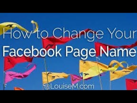 How to change Facebook page Name??