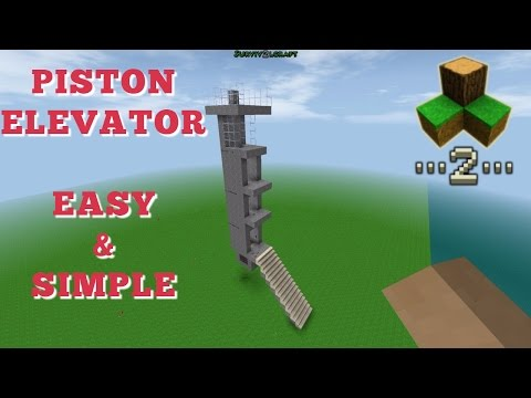 Survivalcraft 2 - Piston Elevator [Simple & Easy] | Survivalcraft Piston