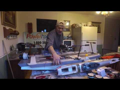 Pt.9 DIY RC.EDF Aircraft Carrier Made From Old Parts and Scrap Materials