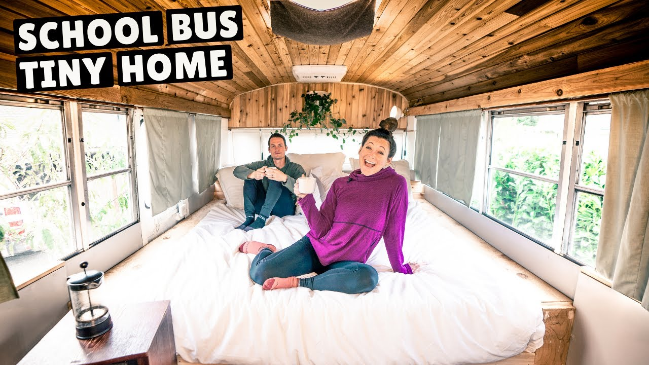 TRADING OUR VAN FOR A CONVERTED SCHOOL BUS (full tour)