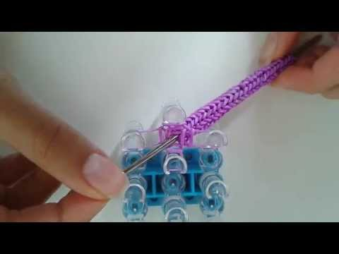 Easy Rainbow loom Thin Hook Grip l Tutorial