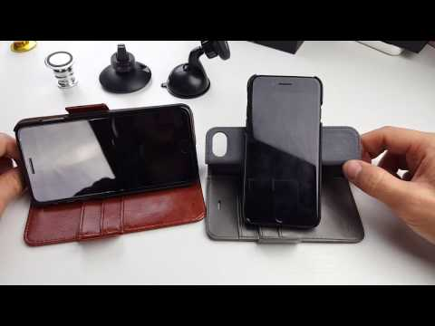 Best iPhone 7 & 7 Plus Wallet Case w/ Strong Magnetic on Hard Shell by DREEM!!!!!
