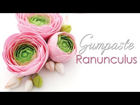 How to make a Gumpaste Ranunculus Flower Tutorial