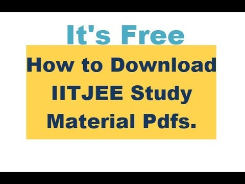 How to download Free iit jee study material