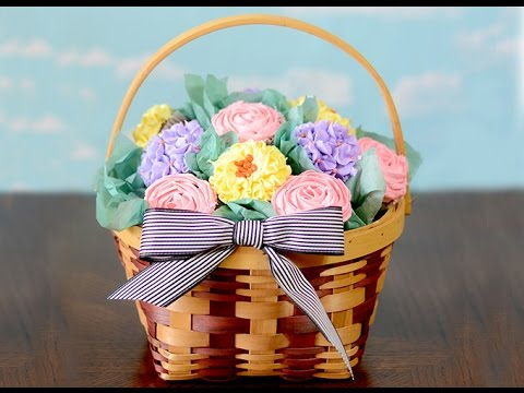 How to Make a Cupcake Bouquet Basket