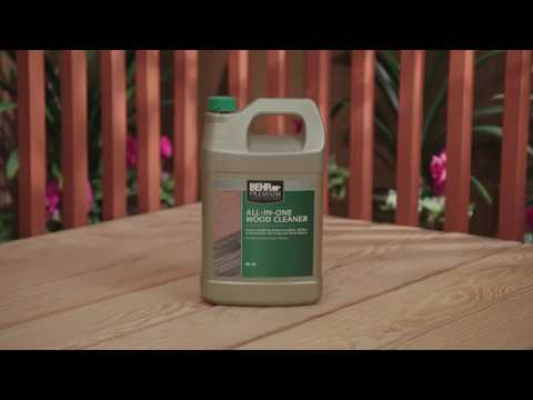 How To Prep New Wood with BEHR Premium No. 63 All-In-One Wood Cleaner