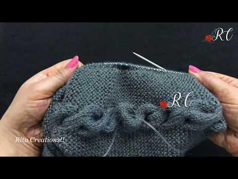 0762f285c5d Knitting Cap  Topi (बीन टोपी कैसे बनाये )