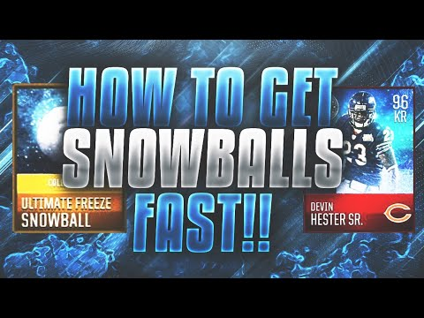 HOW TO GET SNOWBALLS VERY FAST | GET DEVIN HESTER IN ONE DAY | ULTIMATE FREEZE MADDEN MOBILE 18