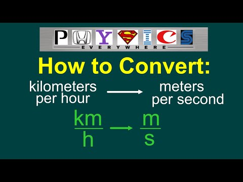 Converting km/h to m/s [EASY]