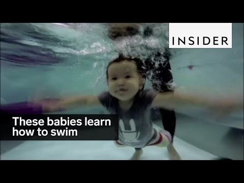 These babies get thrown into the deep end to learn how to swim