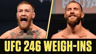 UFC 246 Weigh-Ins: Conor McGregor vs. Donald 'Cowboy' Cerrone