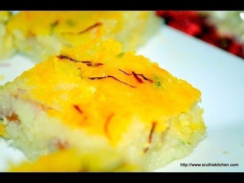 Coconut Burfi - Indian Dessert Recipe