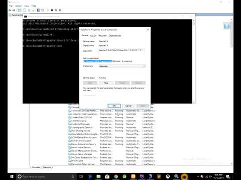 How to Manually remove Apache from Windows Service