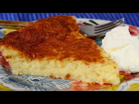 Impossible Coconut Pie Recipe Demonstration - Joyofbaking.com