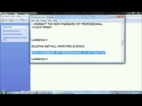 bypass winrar password using aperture science