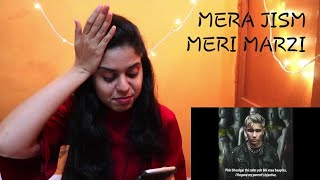 CHEN-K - Mera Jism Meri Marzi (Official Audio) Reaction | Urdu rap |Indian Reaction on Pakistani Rap