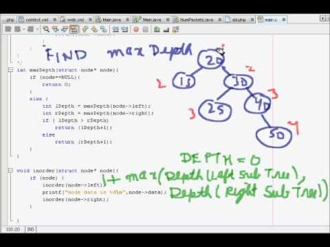 Programming Interview: Data Structures Algorithm: Maximum Depth of Binary Search Tree