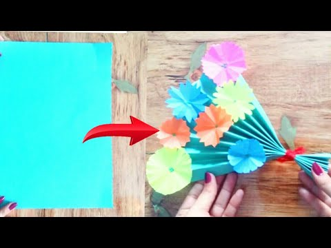 Diy easy paper craft for mother's day special - paper flower bouquet - cool and creative #132