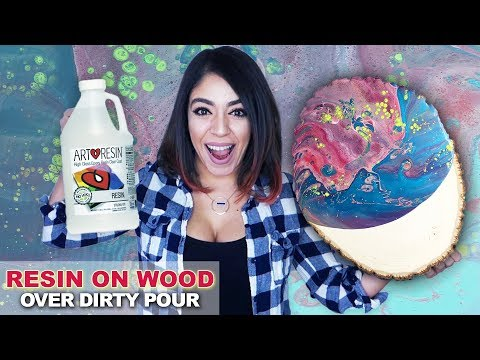 How To Resin A Painting EPOXY RESIN TUTORIAL