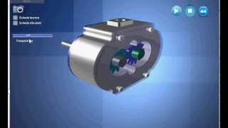 Gear pump animation