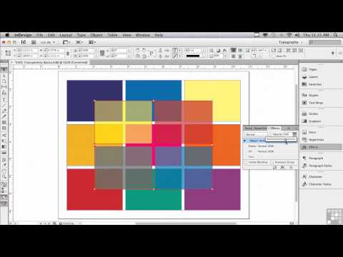 Adobe InDesign CS6 Tutorials | Understanding Transparency  | InfiniteSkills
